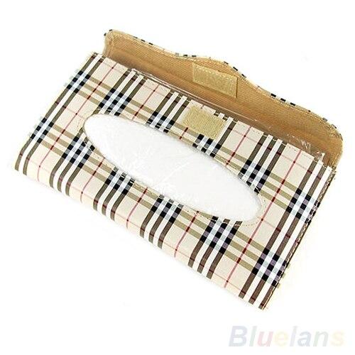Fang tolle Preise letzte Auswahl US $7.94 20% OFF|D1U # Karierten Papiertuch Serviette Box Taschentuchetui  Abdeckung für Auto Sonnenblende Kostenloser Versand-in Taschentuchboxen aus  ...