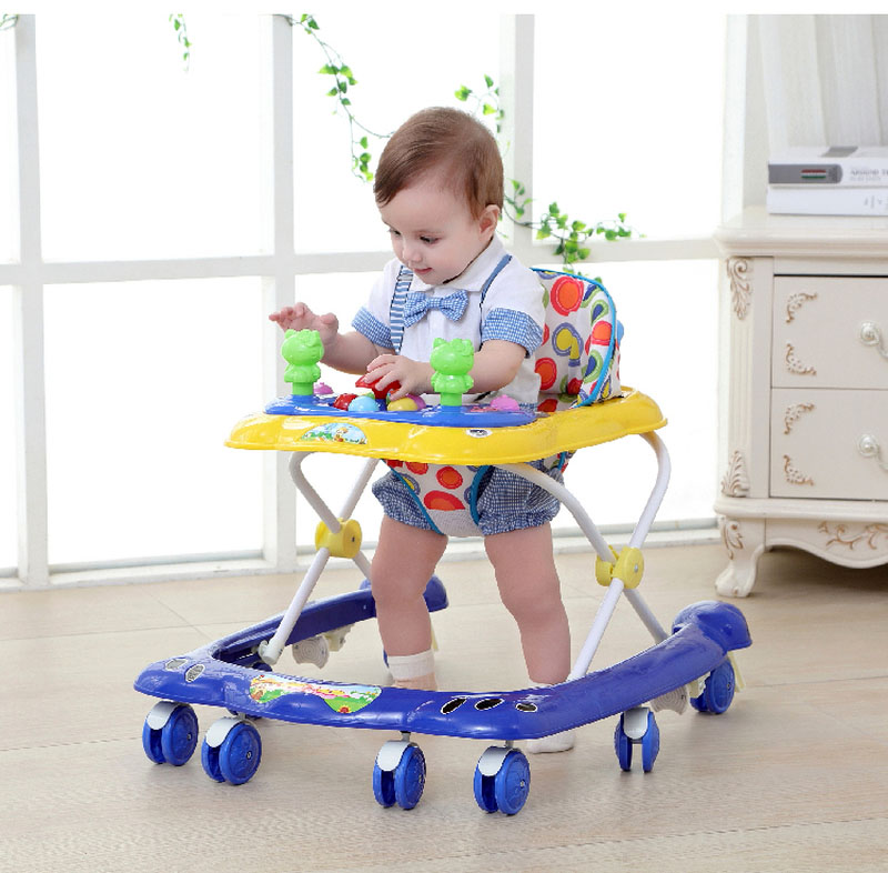 Baby Walker Car Multifunction Baby Walker with Wheels Music Learning Walking Assistant Children Activity Adjustable Baby Walkers