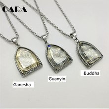2019 new Statement Necklace Vintage Buddha Pendant Buddhist Necklace Buddha Religious stainless steel Necklace Jewelry CAGF0313
