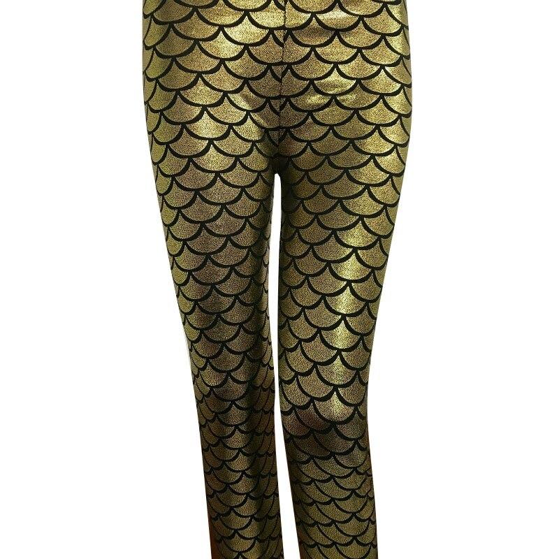 New Top Sale Colorful 3D Digital Print Women Fish Scale Leggings