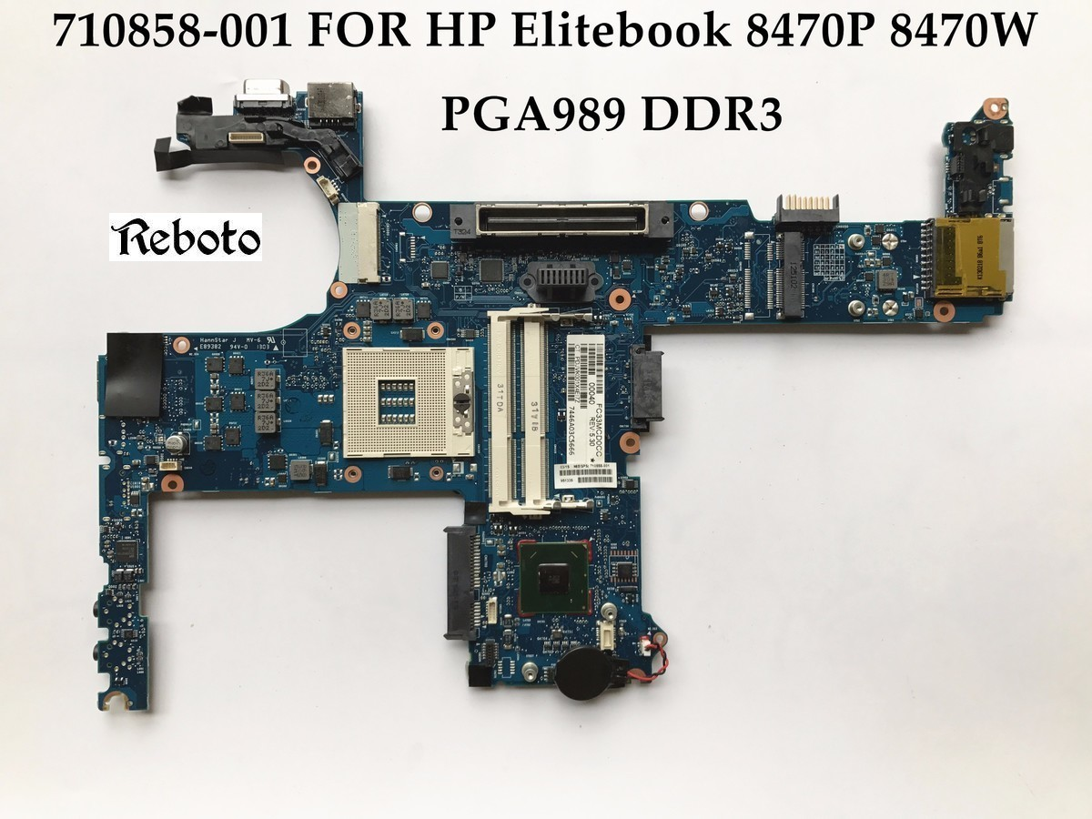 US $51 7 6% OFF|High quality laptop motherboard for HP Elitebook 8470W  8470P 710658 001 HM76 PGA989 DDR3 100% Fully Tested-in Motherboards from