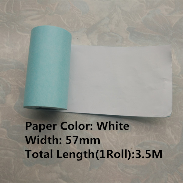 WHITE STICKER PAPER 57MM