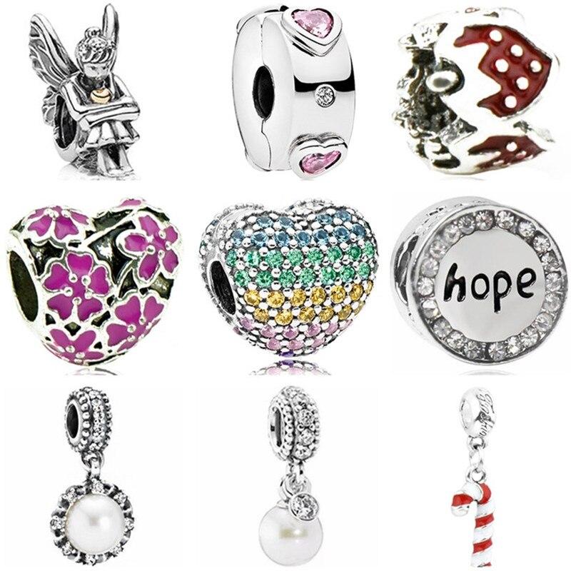Charms Jewelry Simulated-Pearl-Beads Angle-Shell Strawberry Women Original Pandora Fit