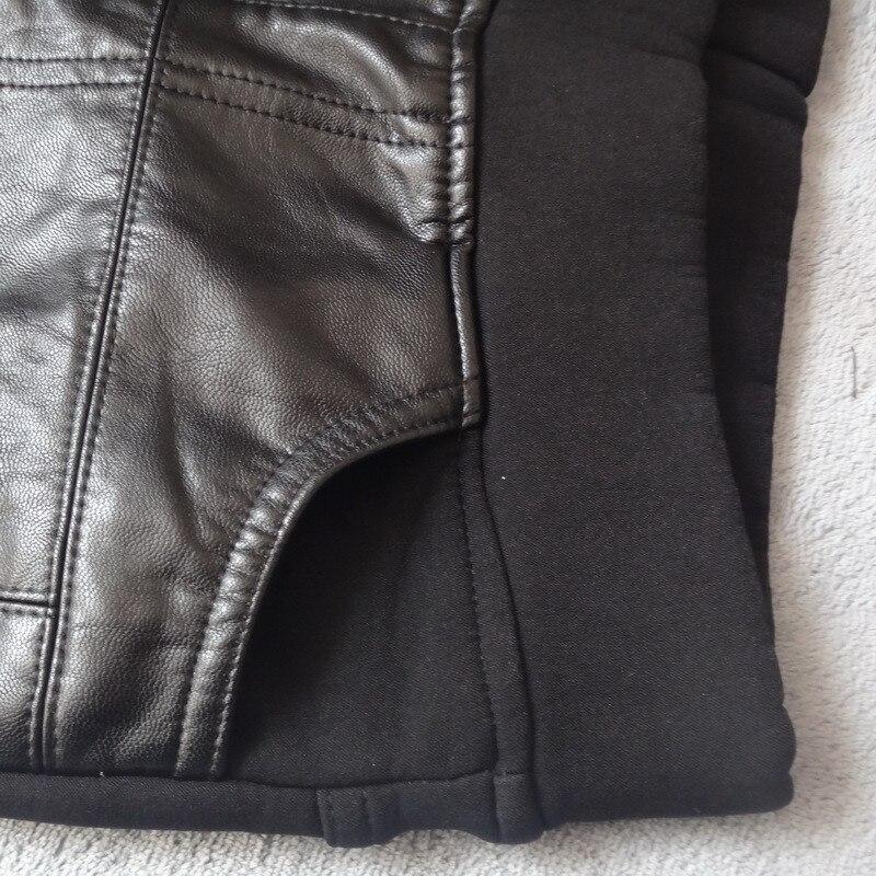 Image 3 - Plus Size 4XL Rivets Stitching PU Leather Leggings Women Plus  Velvet Legging Pencil Pants Motorcycle High Waist Leggings C3930leather  leggingsleather leggings womenpu leather leggings