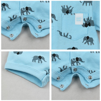 2019 official store Summer boys baby clothing Short Sleeved Jumpsuit Newborn Romper Baby Boy Clothes infant roupas  Baby Rompers 3