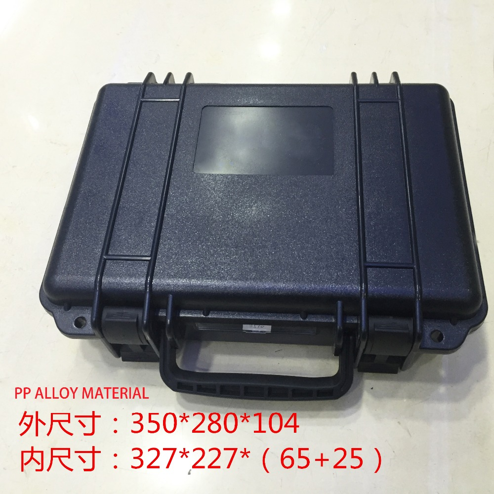 Tool case Impact resistant sealed waterproof safety equipment case 327*227*90MM camera suitcase with pre-cut foam linning