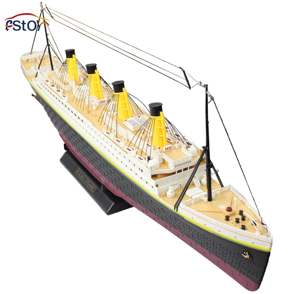 New RC Boat High Simulate Titanic Boat Radio Control Ship Titanic Sea Jumbo Cruise Ship 3D Titanic Ship With light Model Toys