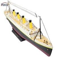 New RC Boat High Simulate Titanic Boat Radio Control Ship Titanic Sea Jumbo Cruise Ship 3D Titanic Ship With light Model Toys