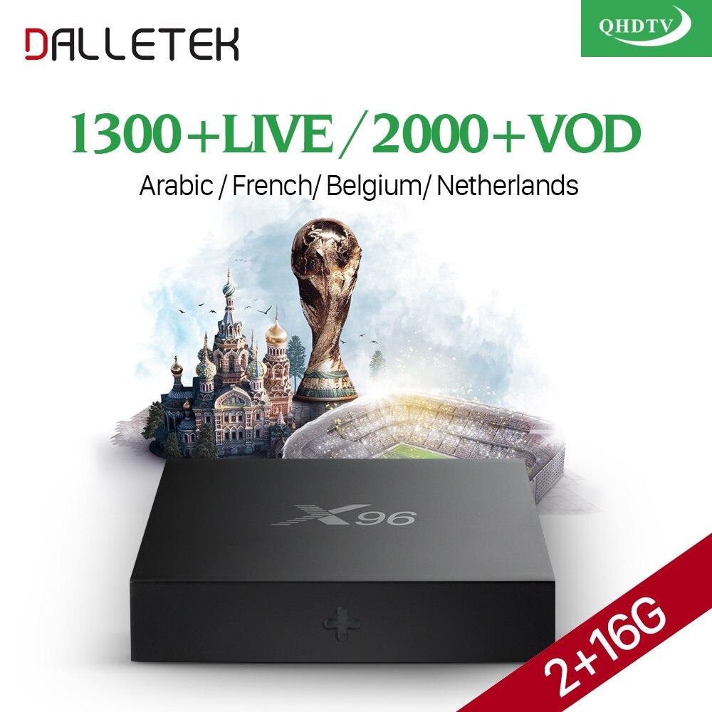 X96 TV Box Android 6.0 Arabic French Live IPTV Box QHDTV Code Subscription 1300 Channels Belgium Dutch Europe Africa IPTV Box x92 android iptv box s912 set top box 700 live arabic iptv europe french iptv subscription 1 year iptv account code
