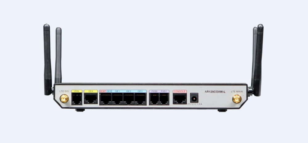 Huawei AR129CGVW-L 4G FDD-LTE Bands 1/2/3/4/5/7/8/20 1VDSL+2FXS+2Simcard+  4GE+WiFi 2 4G+5G+USB2 0 Enterprise Router