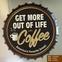 Tin Sign COFFEE Vintage Iron Painting Beer Cover Bar KTV Hanging Ornaments Decor Retro Mural Poster Metal Wall Stickers