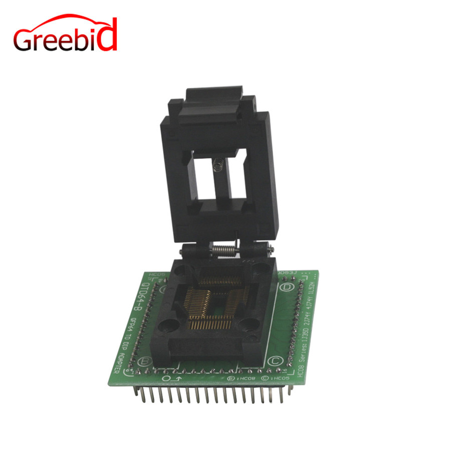 Chip Programmer SOCKET FOR QFP64 designed for all the QFP 64 Microprocessor
