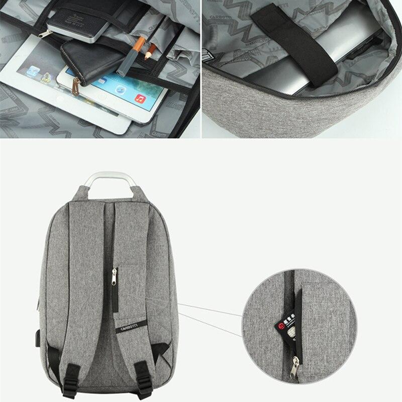 Mode sac à dos avec poignée hommes femme sacs à dos sac à dos pour ordinateur portable coquille dure étanche cartable mode ordinateur intercouche sac - 5