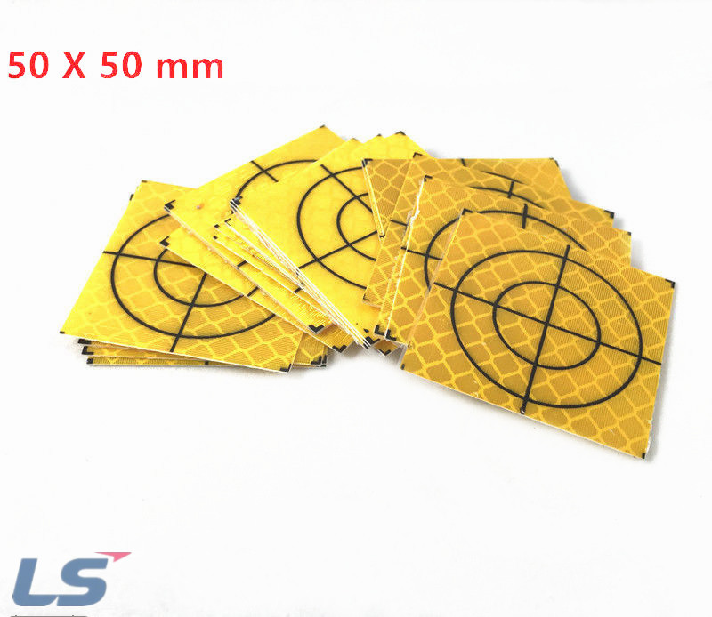 100 PCS 50X50mm Yellow Reflector Sheet For Total station