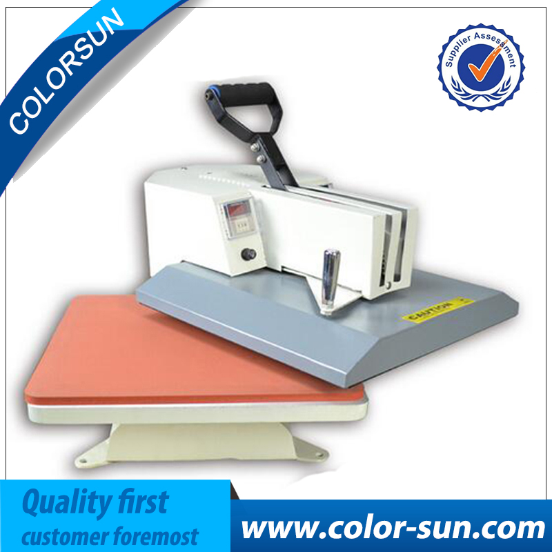 Cheap manuale swing away pressa di calore per flatbed stampa 38*38 cmCheap manuale swing away pressa di calore per flatbed stampa 38*38 cm