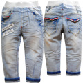 3708  spring soft denim   trousers autumn pants   kids  jeans boys  girls  babies  light  blue children's clothing