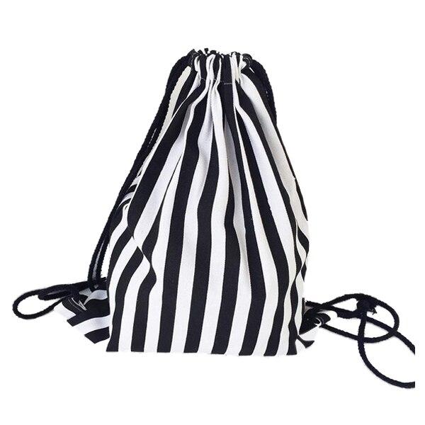 Drawstring Backpack Canvas Draw String Bag Sac A Dos Rucksack Sack Mochila Feminina