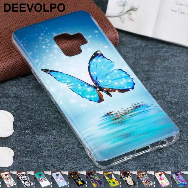 US $1 67 20% OFF DEEVOLPO Luminous Phone Case For Samsung Galaxy S9 Plus  Fundas S9Plus Sika Ghost Butterfly Rose Soft Silicone Back Cover D12G-in