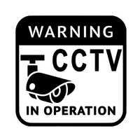 Pegatinas de vinilo para decoración de CCTV, pegatinas de vinilo para autos, 14,2 cm, 14,2 cm