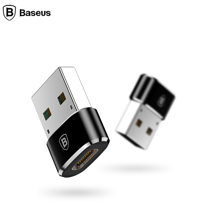 Baseus USB Male To USB Type C Female OTG Adapter Converter  For Macbook PC Male USB OTG Adapter TYPE-C Female Data Charger Cable