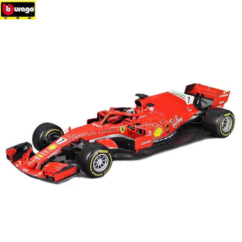 Bburago 1:18 Ferrari F1 Manufacturer Authorized Simulation Alloy Car Model Crafts Decoration Collection Toy Tools