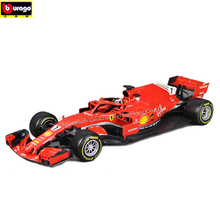 Bburago 1:18 Ferrari F1 manufacturer authorized simulation alloy car model crafts decoration collection toy tools