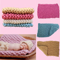 50*60 cm Cesta Handwoven Lã Macia Cobertor Enchimento Stuffer Fotografia Backdrops Estúdio Foto Do Bebê Recém-nascido Adereços Presente Do Chuveiro