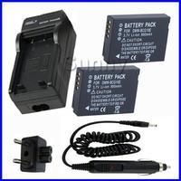 Battery 2 Pack Charger For Panasonic Lumix DMC 3D1 TZ6 TZ7 TZ8 TZ10 TZ18 TZ19 TZ20