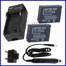 Bateria (2 sztuki) + ładowarka do Panasonic Lumix DMC 3D1, TZ6, TZ7, TZ8, TZ10, TZ18, TZ19, TZ20, TZ25, TZ30, TZ35 aparat cyfrowy