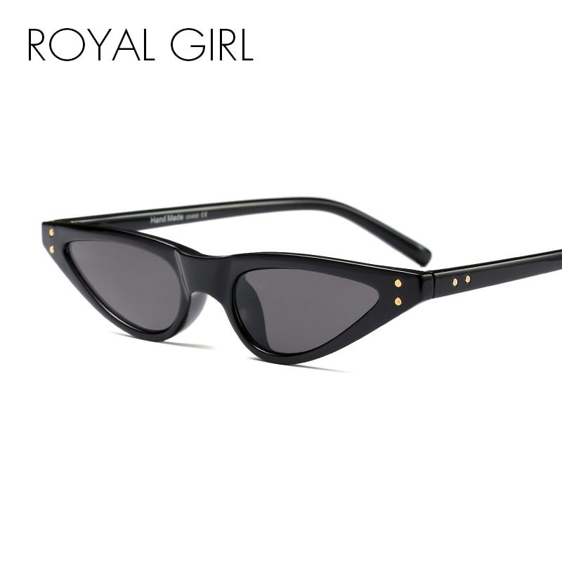 38734304e090b Aliexpress.com  Compre MENINA REAL Do Vintage Do Olho de Gato Óculos De Sol  Das Mulheres de Design Da Marca Clássico Pequeno Quadro Óculos de Sol  Feminino ...