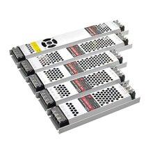 超薄型 Led 変圧器パワーサプライ DC 12 V ストリップ 100 ワット 150 ワット 200 ワット 300 ワット AC190 240V ドライバ led ストリップ電球