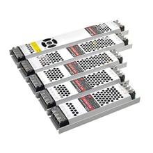 رقيقة جدا Led المحولات امدادات الطاقة DC 12 V شرائط 100 W 150 W 200 W 300 W AC190 240V سائق ل شرائط ليد مصابيح كهربائية