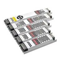 Ultra mince LED transformateurs alimentation DC 12 V bandes 100 W 150 W 200 W 300 W AC190-240V pilote pour ampoules néons à LED