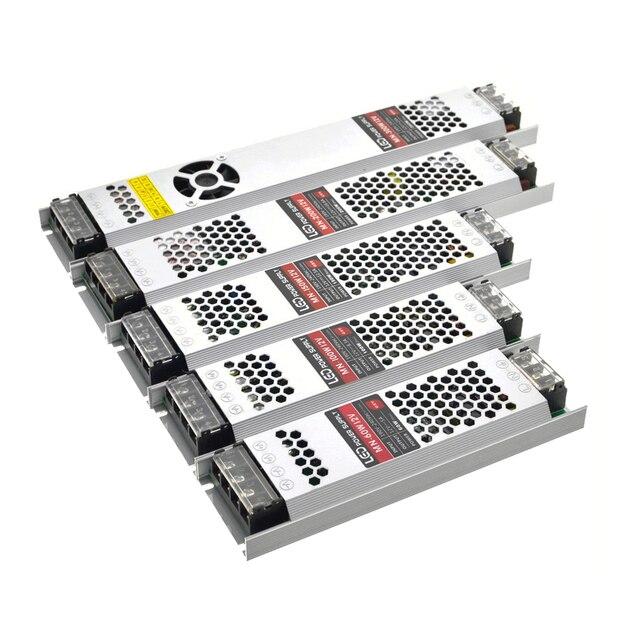 Ultra mince LED transformateurs alimentation DC 12 V bandes 100 W 150 W 200 W 300 W AC190 240V pilote pour ampoules néons à LED