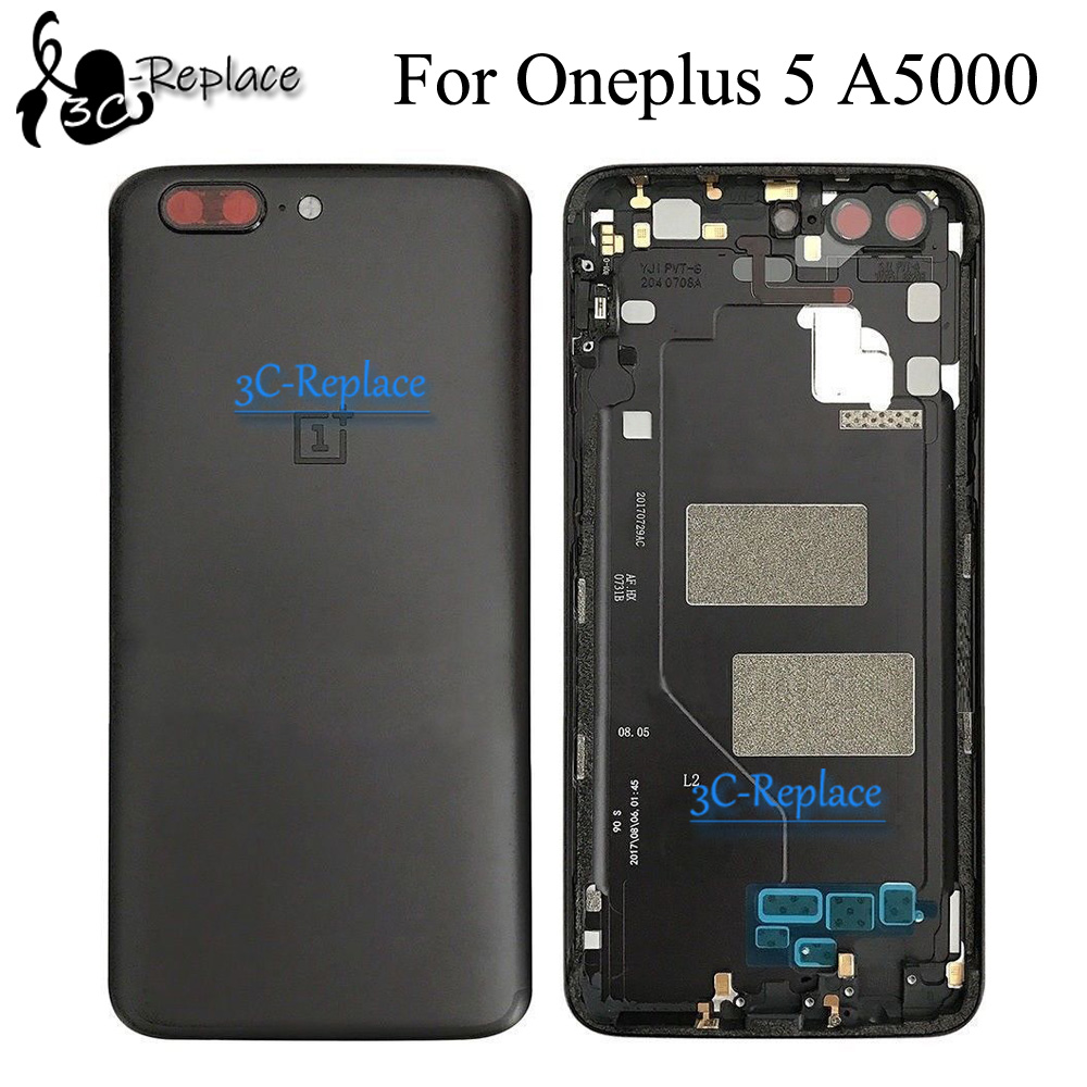 Cover Door-Housing-Case Oneplus Black/gold Rear-Glass-Replacement-Parts Back-Battery