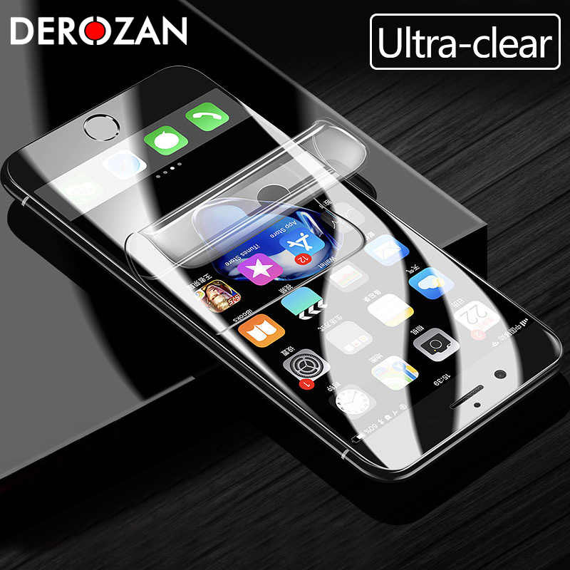 Screen Protector For iPhone 7 8 6 6S Plus Hydrogel Explosion-proof Film For Apple iPhone X XS MAX XR Transparent Ultra-Clear Fim