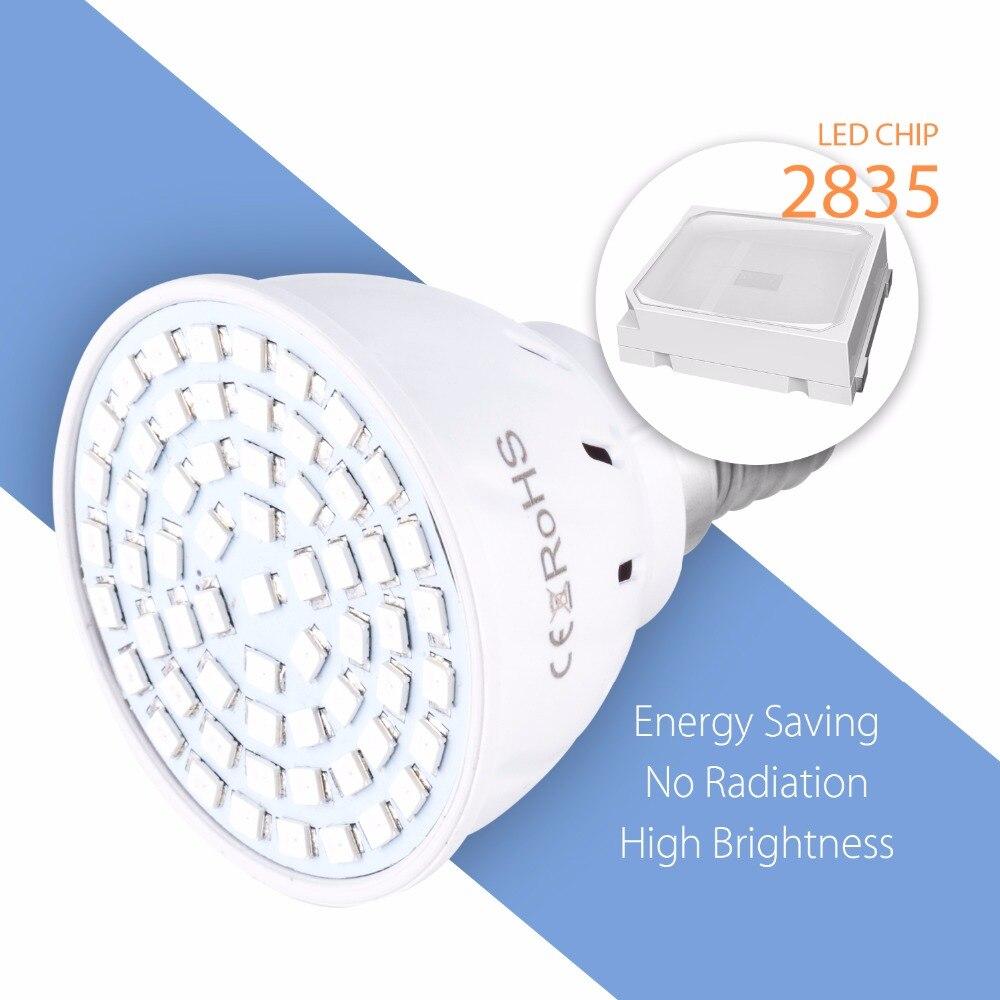 Image 3 - GU10 Phyto Lamps E27 Led Full Spectrum Grow Light MR16 Led Bulbs Seedling 48 60 80leds B22 Plant Growing Lamp For Greenhouse E14-in LED Grow Lights from Lights & Lighting