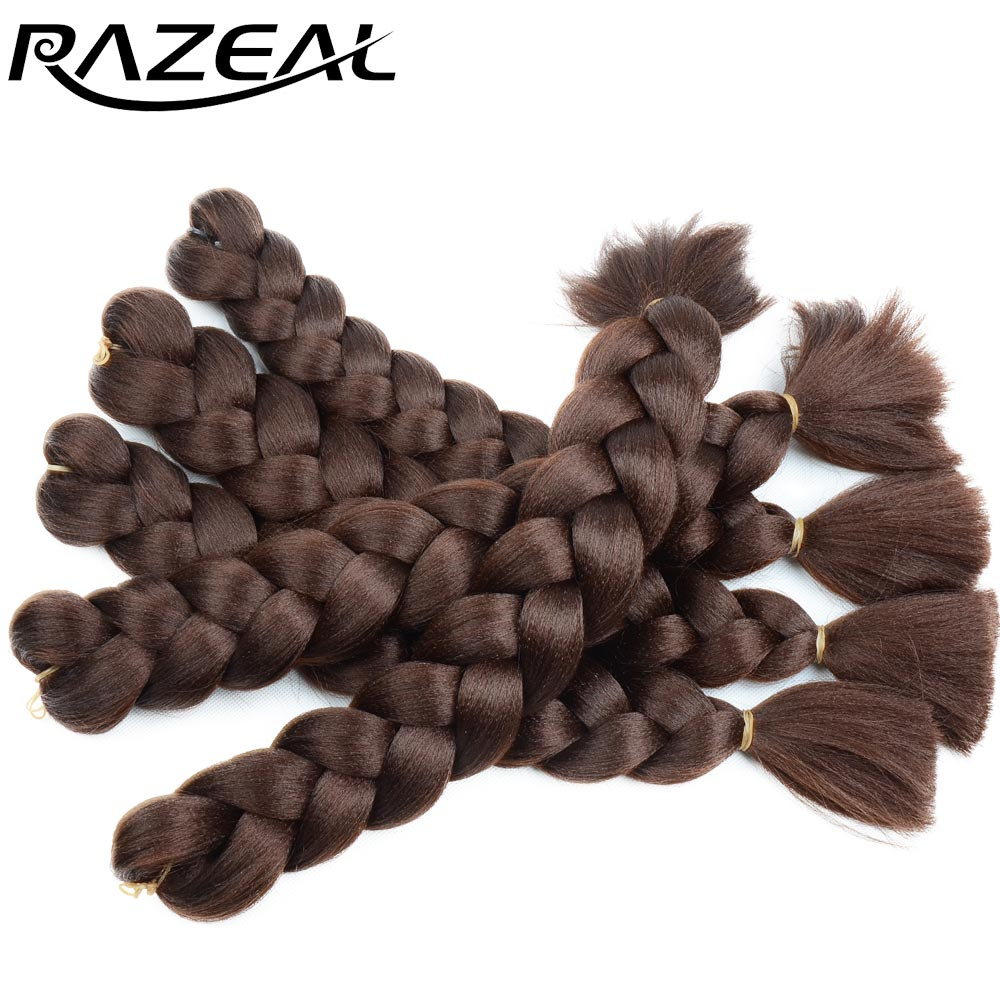 Purposeful Razeal Braiding Hair One Piece 18inch Synthetic High Temperature Fiber 100g Jumbo Braids Crochet Hair Extensions Free Shipping Good Companions For Children As Well As Adults Jumbo Braids Hair Braids