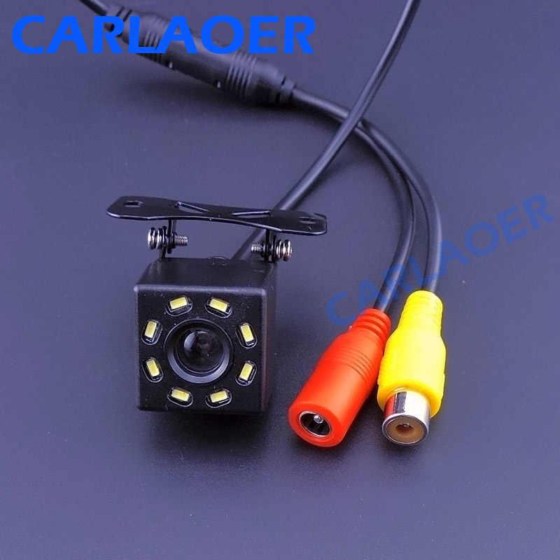 Cámara de visión trasera del coche cámara de aparcamiento de respaldo Universal 8 LED de visión nocturna a prueba de agua HD Color imagen 6m o 8m cable de vídeo opcional