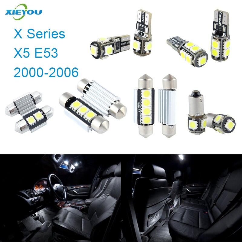 XIEYOU 19ks LED sada pro osvětlení interiéru Canbus pro řadu X X5 E53 (2000-2006)