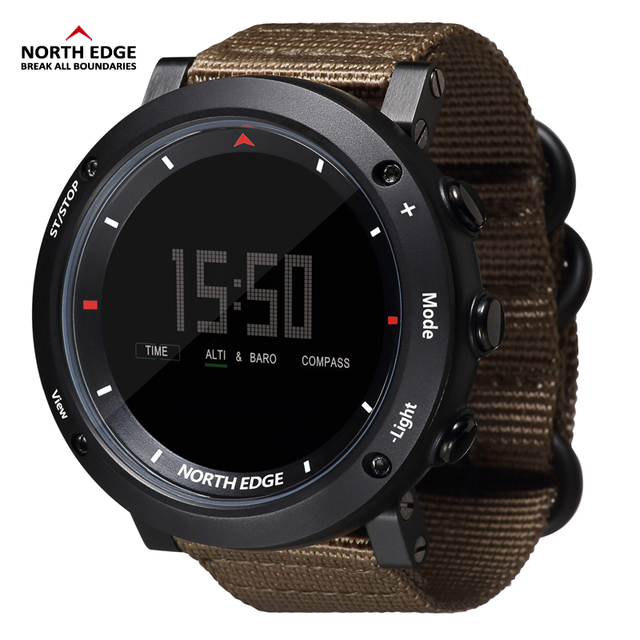 NORTH EDGE Men's sport Digital sports Altimeter Barometer Compass Thermometer watches  1