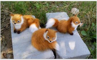 WYZHY Simulation fox home decoration children 39 s early education photo props size 12cmX7cm in Real Life Plush from Toys amp Hobbies