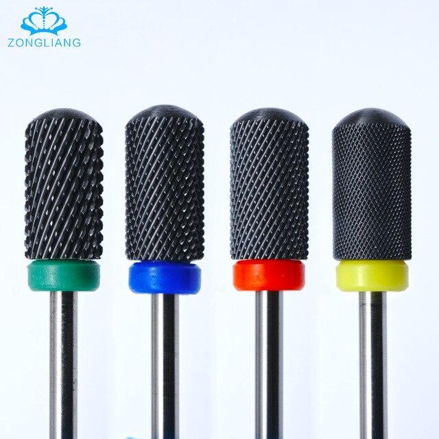Black Ceramic Nail Bit 3 32 Art Electric Drill Gel Polish Milling Cutter