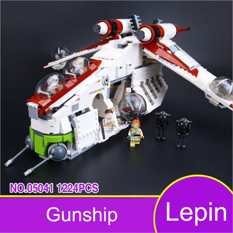 Lepin 05041 Star Series War Building Blocks Gunship Yacht Genuine Movie Figure Education Bricks Toys Compatible Gifts For Kids lepin 22001 pirates series the imperial war ship model building kits blocks bricks toys gifts for kids 1717pcs compatible 10210