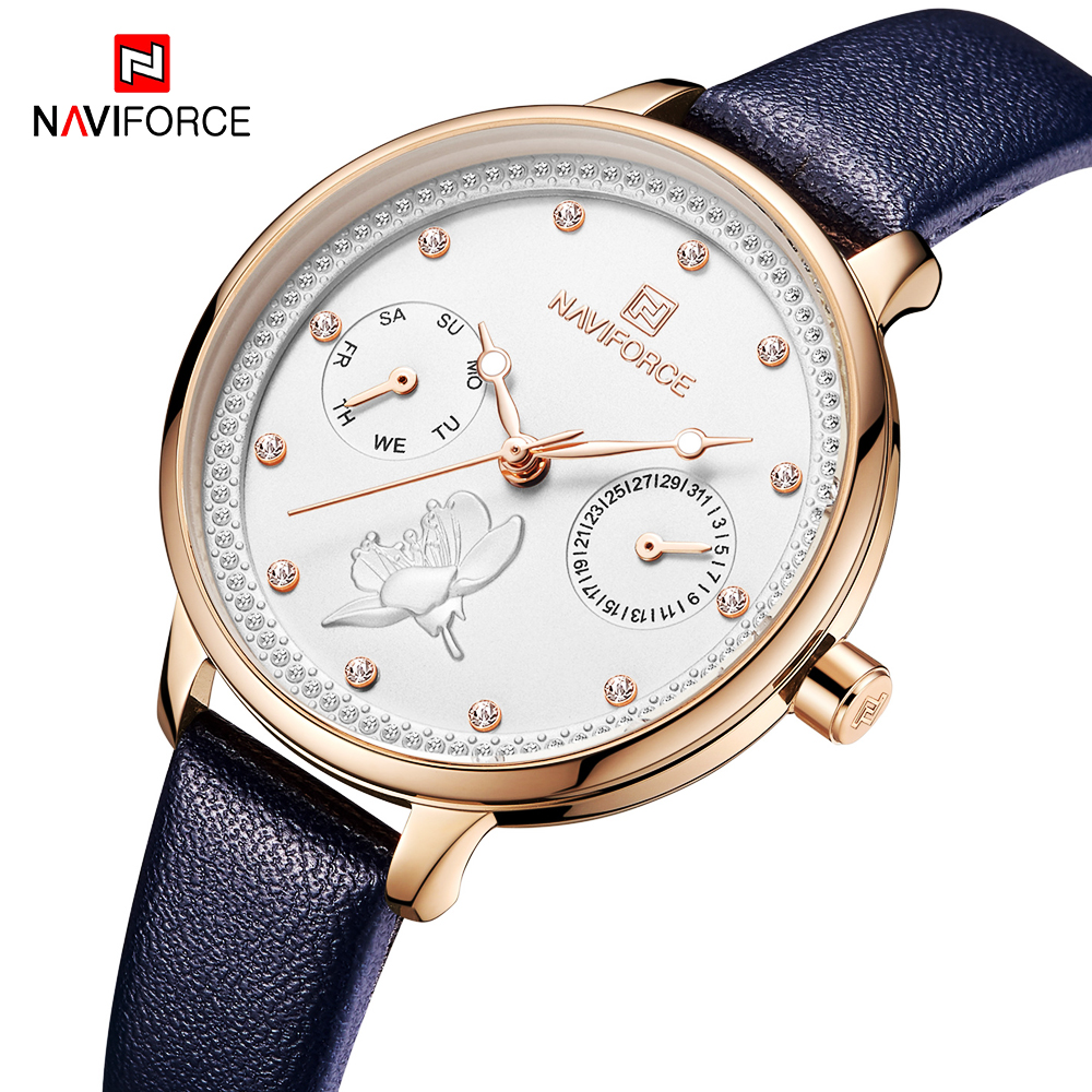 2020 New Women Watches NAVIFORCE Luxury Brand Fashion Ladies Sport Quartz Watch Dress Casual Waterproof Wrist Watch Female Clock Women's Watches     - title=