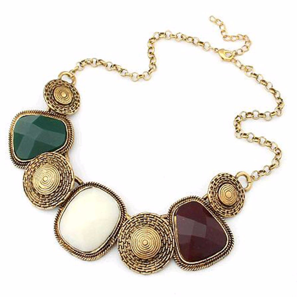 Fashion pentand Crystal Bib Statement Charme Chunky Colorful Collier Collier 937