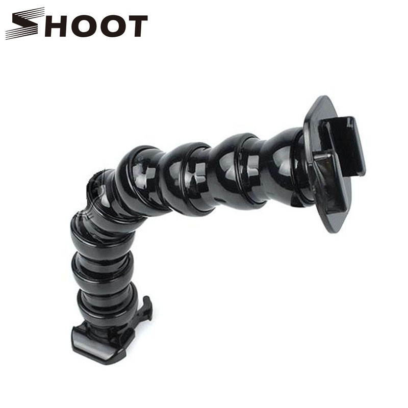 Galleria fotografica 8 Joint Adjustable Tripod Mount Flex Neck Gooseneck for GoPro Hero 6 5 4 Yi 4K SJCAM SJ7000 H9 Action Camera Go pro Accessory