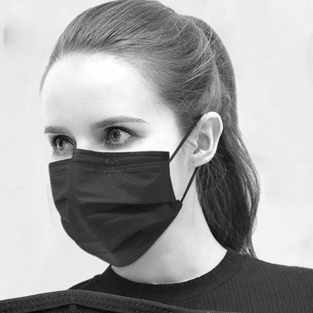 Korean Black mouth Masks Unisex Mens Womens Cycling Wearing Anti-Dust  Cotton Face Mask Respirator f32cf2f76
