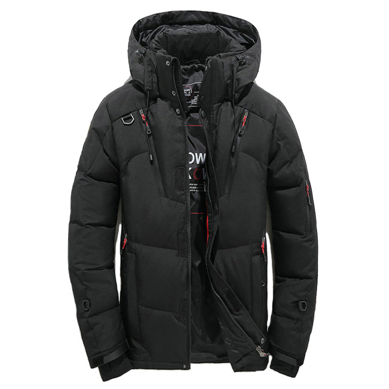 2019 High Quality Winter Warm Thicken Zipper Coats Mens Hooded Parkas Casual Male Slim Multi-Pockets Overcoat Four Color Jackets