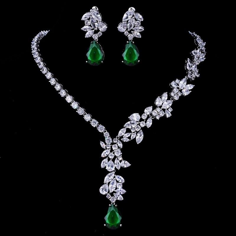 Emmaya New Unique Design Choker Necklace Stud Earrings Bridal Jewelry Sets Wedding Accessories Dropship 5